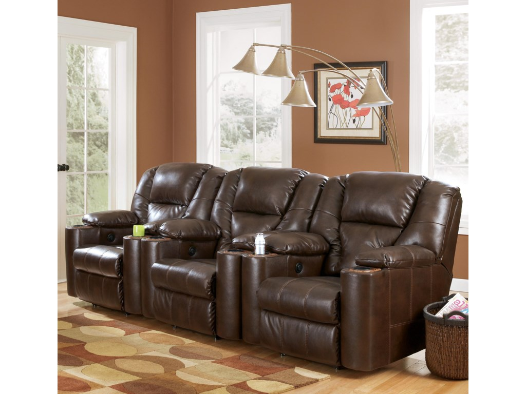 Signature Design by Ashley Paramount DuraBlend® - Brindle3-Piece Home Theater Group