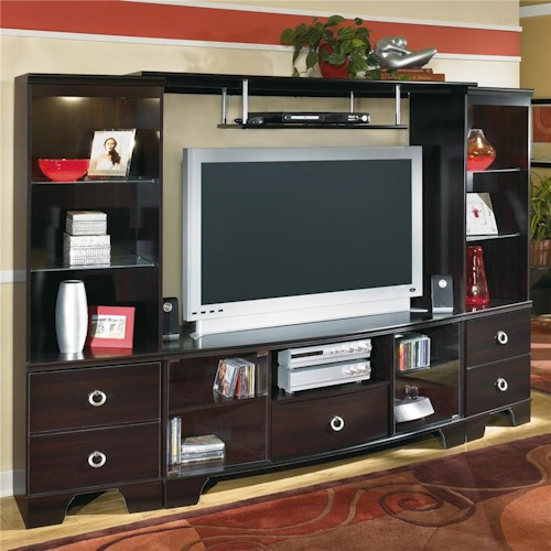 Signature Design by Ashley Pinella Entertainment Wall with Pier Cabinet