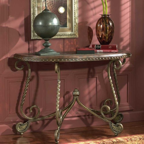 Signature Design By Ashley Rafferty Sofa Table With Metal