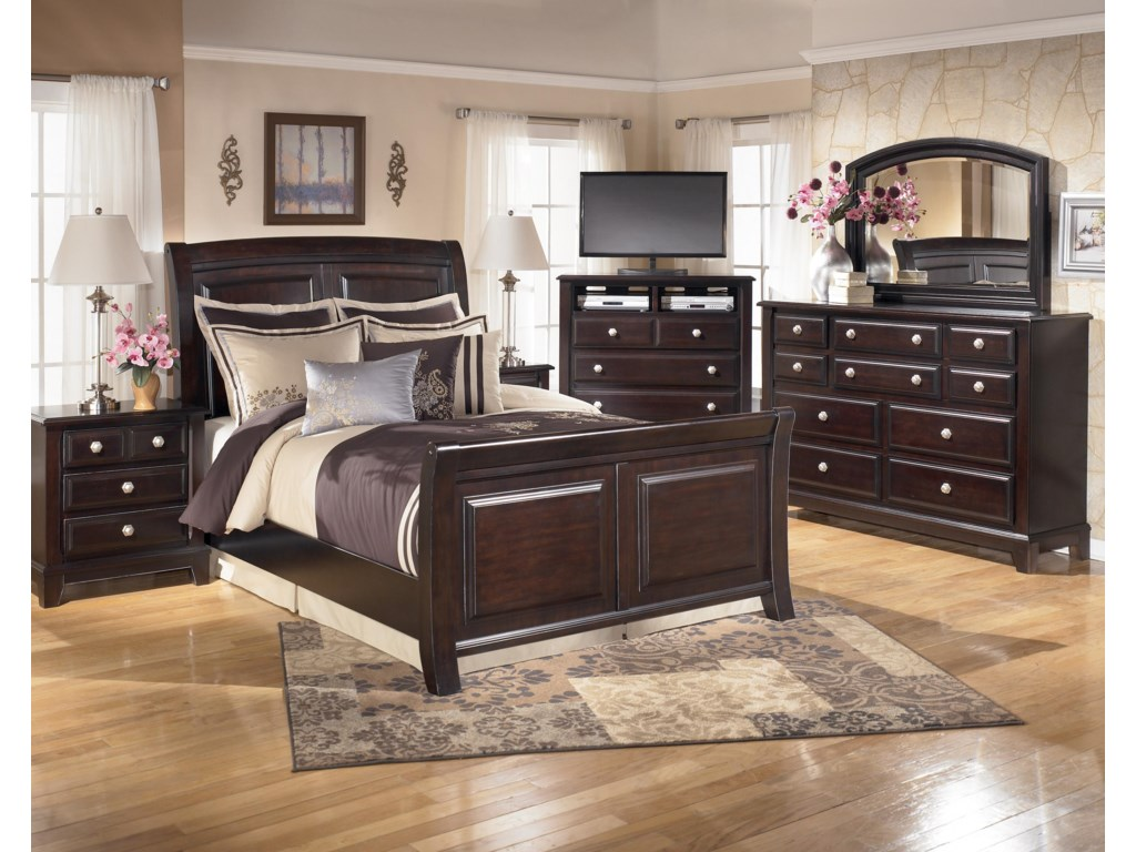 Shown with Nightstand, Bed, Dresser & Mirror