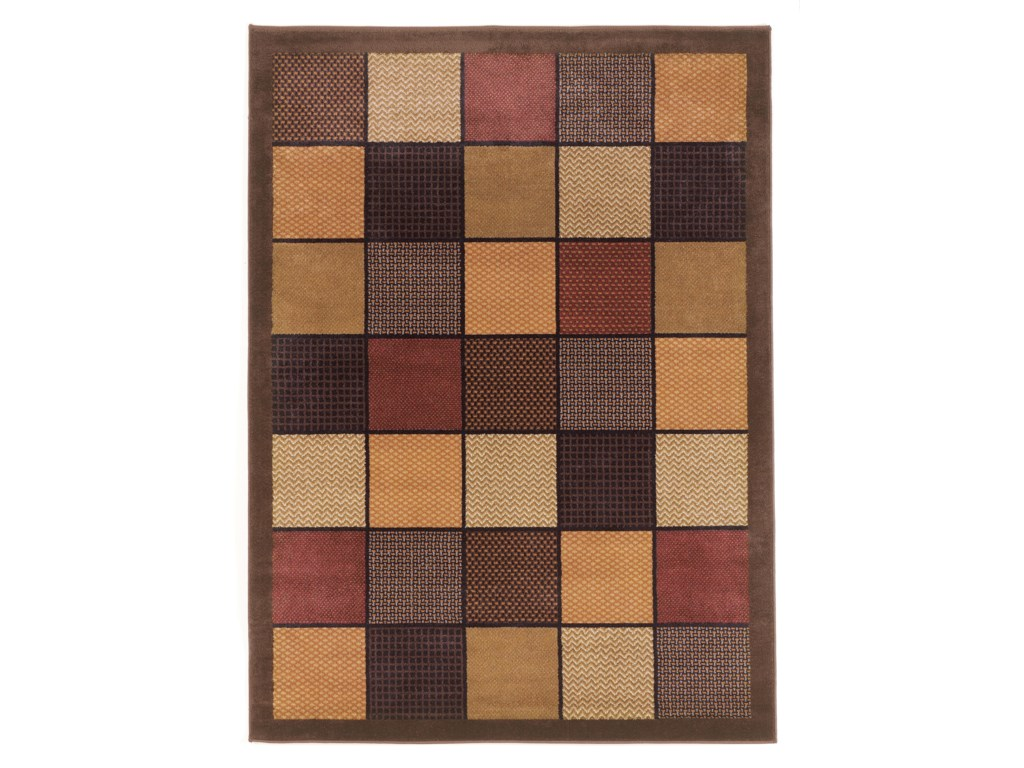 Signature Design By Ashley Contemporary Area Rugspatchwork Brown Rug