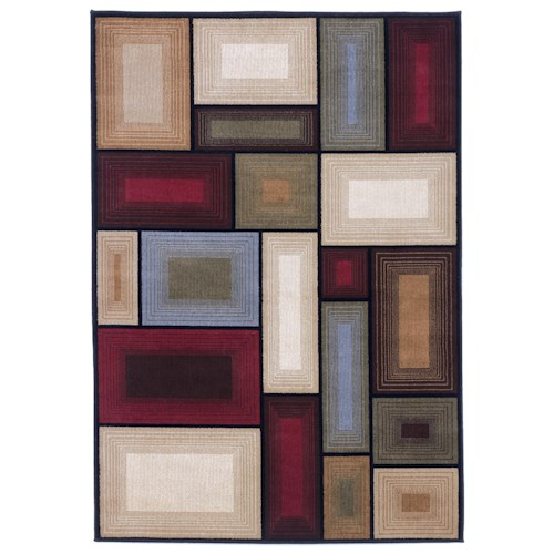 Signature Design By Ashley Contemporary Area Rugs Prism Multi Area Rug Colder 39 S Furniture