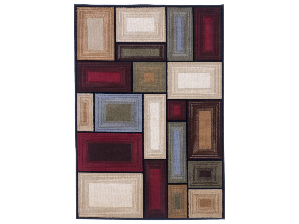 Collection # 4 Contemporary Area RugsPrism - Multi Rug