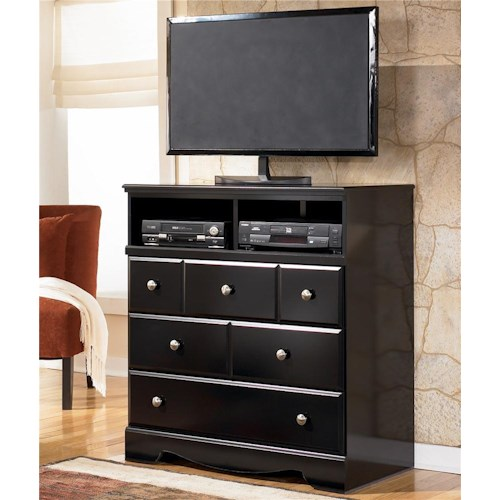 Signature Design by Ashley Shay Contemporary 3 Drawer Media Chest