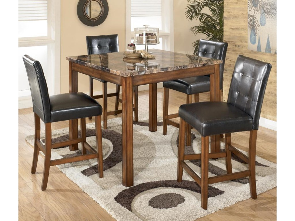 Signature Design by Ashley Theo5-Piece Square Counter Height Table Set