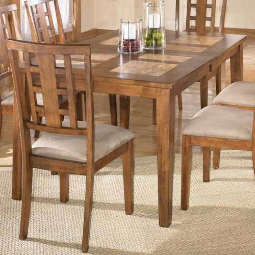 Signature Design by Ashley Tucker Tile Top Extension Dining Table ...