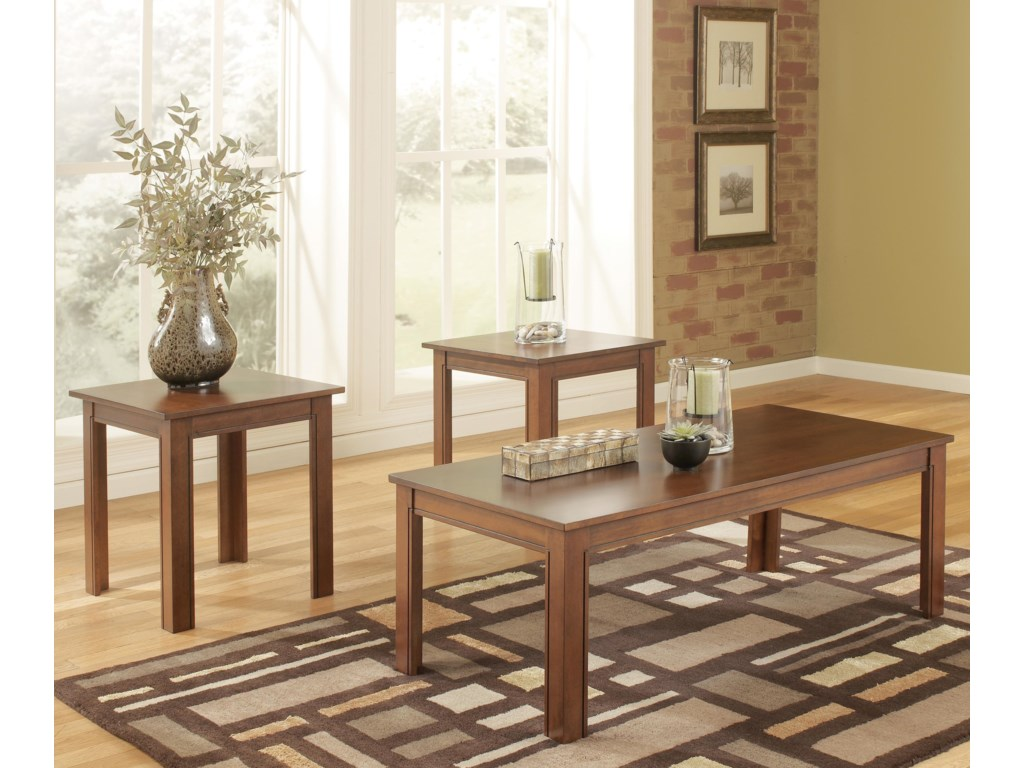 Signature Design By Ashley Yoshi Piece Table Set With Two End