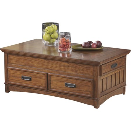 Rect Storage Lift-Top Cocktail Table