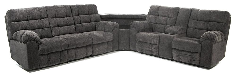 signature design by ashley addie reclining sectional sofa with right side loveseat cup holders and