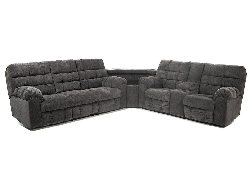 Signature Design By Ashley Acieona Slatereclining Sectional With Right Side Loveseat