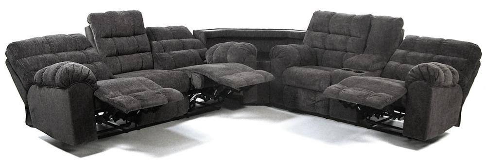 Acieona Slate Reclining Sectional Sofa With Right Side Loveseat