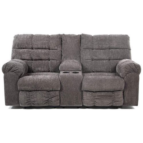 Signature Design by Ashley Addie Double Reclining Loveseat with Console and Cup Holders