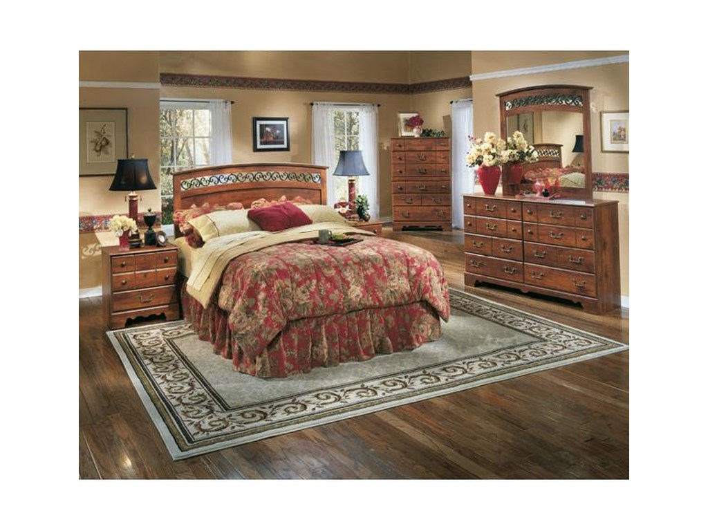 Pine Ridge 5 Piece Queen Bedroom Set by Signature Design by Ashley at  Rotmans