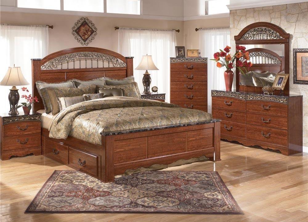 Brookfield 4pc Queen Storage Bedroom Set Rotmans Bedroom Groups