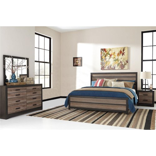 Signature Design by Ashley Harrington 4-Piece Queen Bedroom Set
