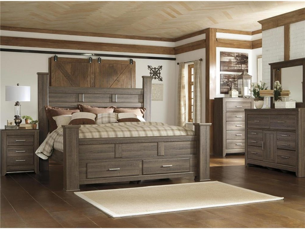 Sawyer 4PC King Storage Bedroom Set