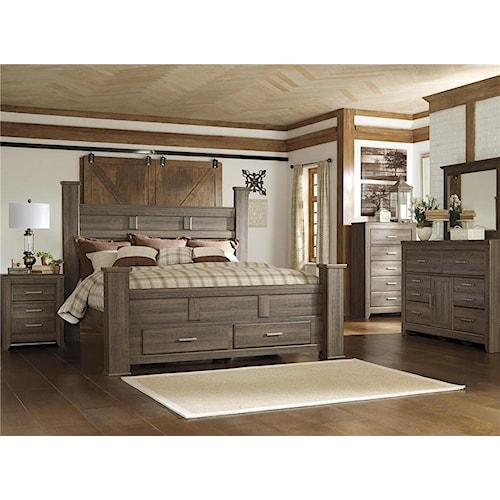Signature Design by Ashley Sawyer 4pc Queen Storage Bedroom Set