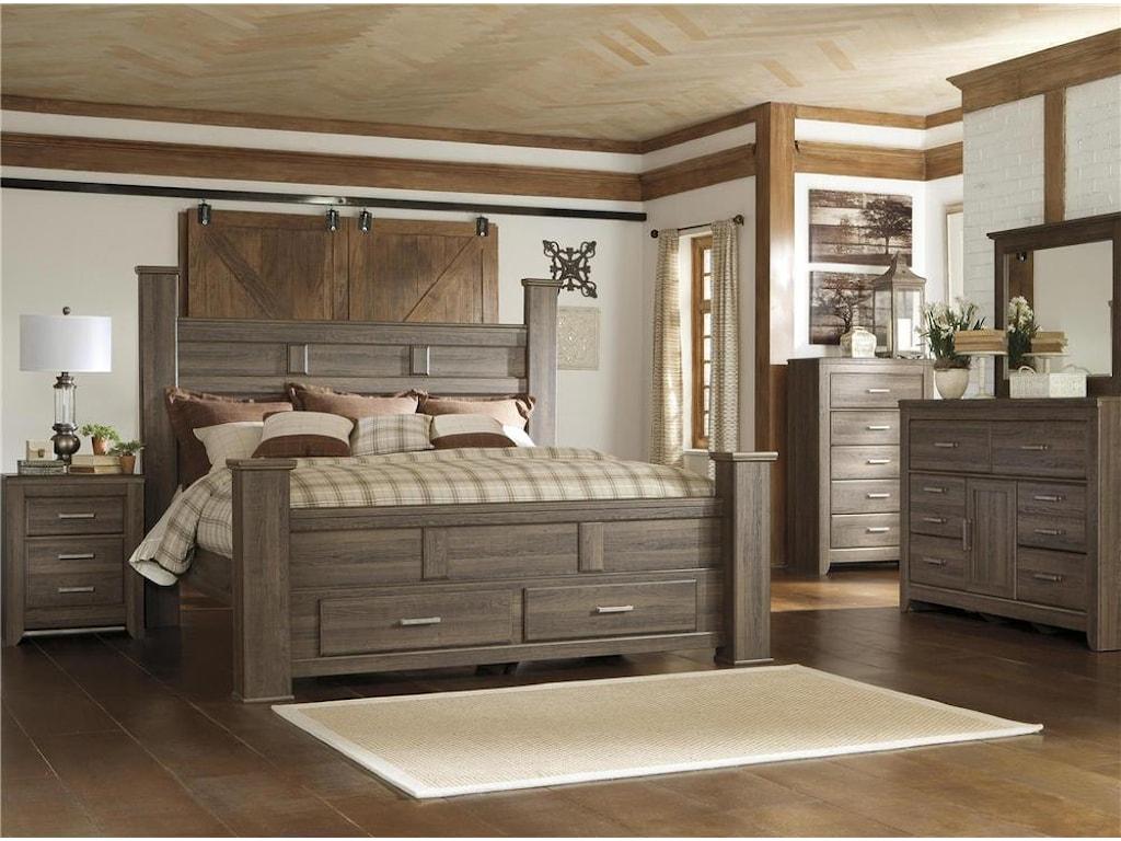 Signature Design by Ashley Sawyer4PC Queen Storage Bedroom Set