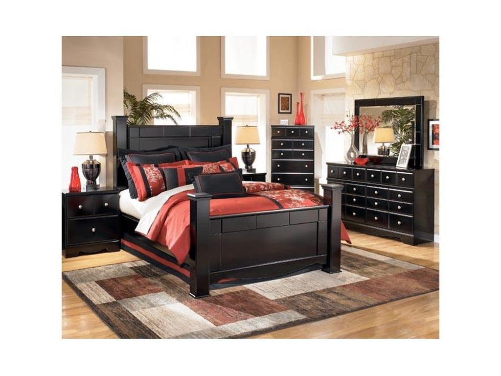 Shane 4 Piece Queen Bedroom Set by Signature Design by Ashley at Rotmans