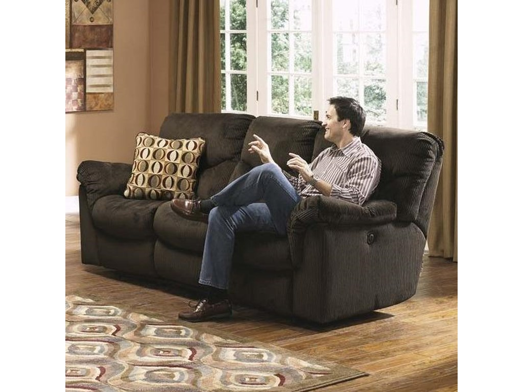 Signature Design By Ashley Vesca Brown Corded Casual Dual Reclining