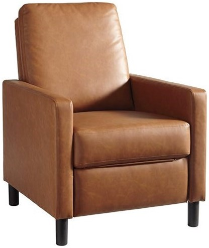 Signature Design by Ashley Hemmoor Contemporary Press-Back High-Leg Recliner
