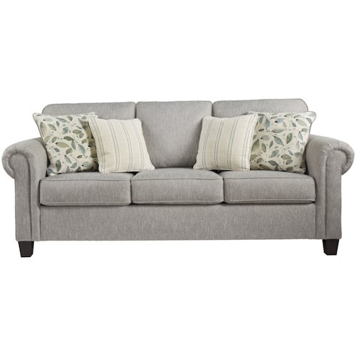 Signature Design by Ashley Alandari Transitional Sofa with Rolled Arms