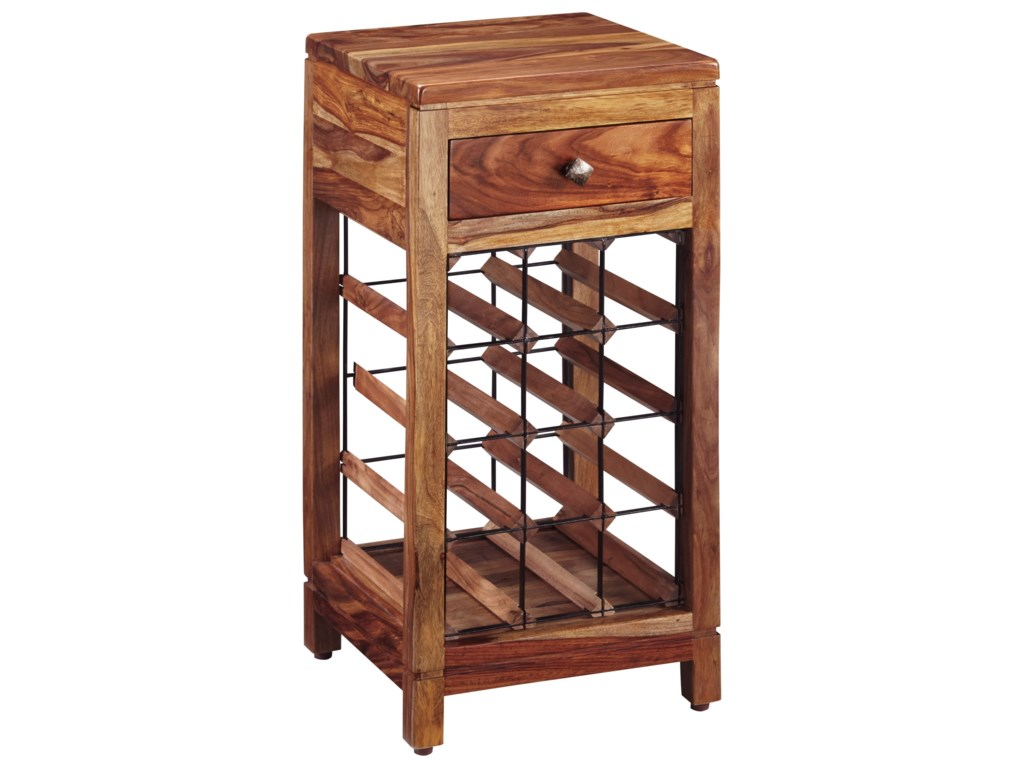 Abbonto Sheesham Solid Wood Wine Cabinet