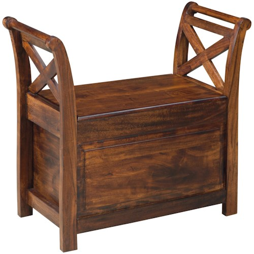 Signature Design by Ashley Abbonto Mango Wood Bench with Storage