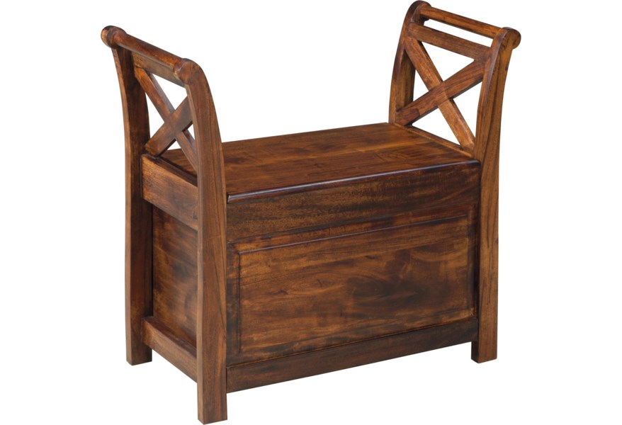 Signature Design By Ashley Abbonto Mango Wood Bench With Storage Houston S Yuma Furniture Bench