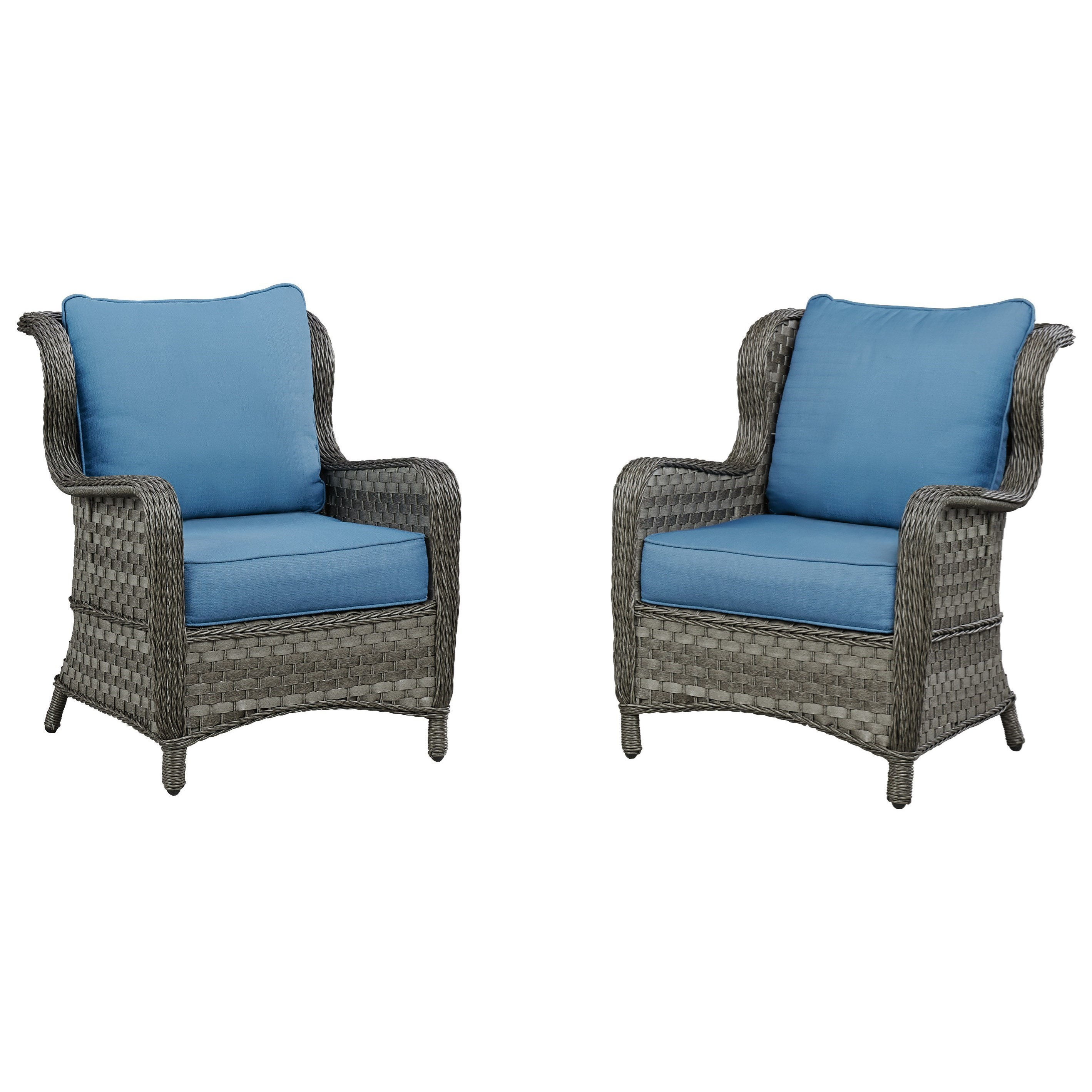 Signature Design By Ashley Abbots CourtSet Of 2 Outdoor Lounge Chairs W/  Cushion ...