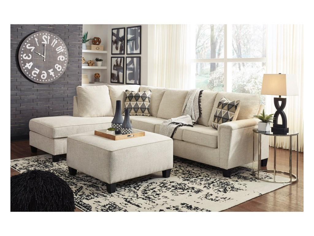 Signature Design by Ashley Abinger2-Piece Sectional w/ Chaise and Sleeper