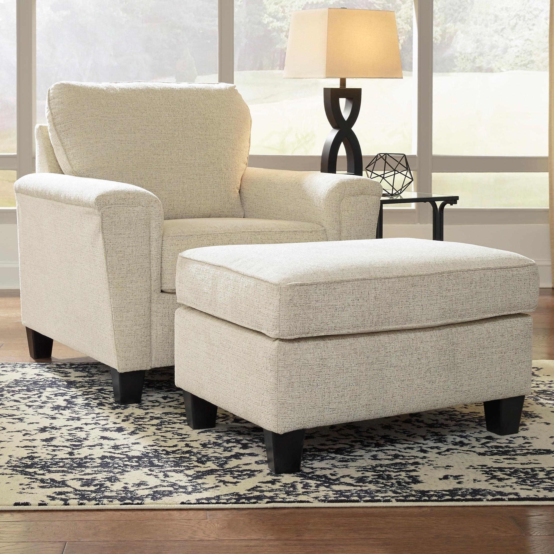 Contemporary Chair & Ottoman