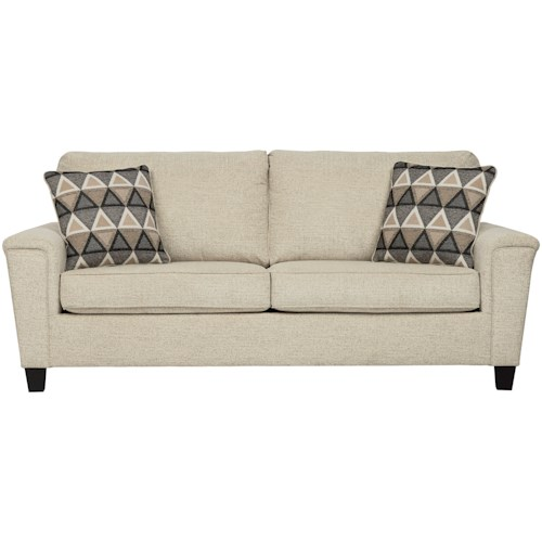 Signature Design by Ashley Abinger Contemporary Queen Sofa Sleeper with Memory Foam Mattress