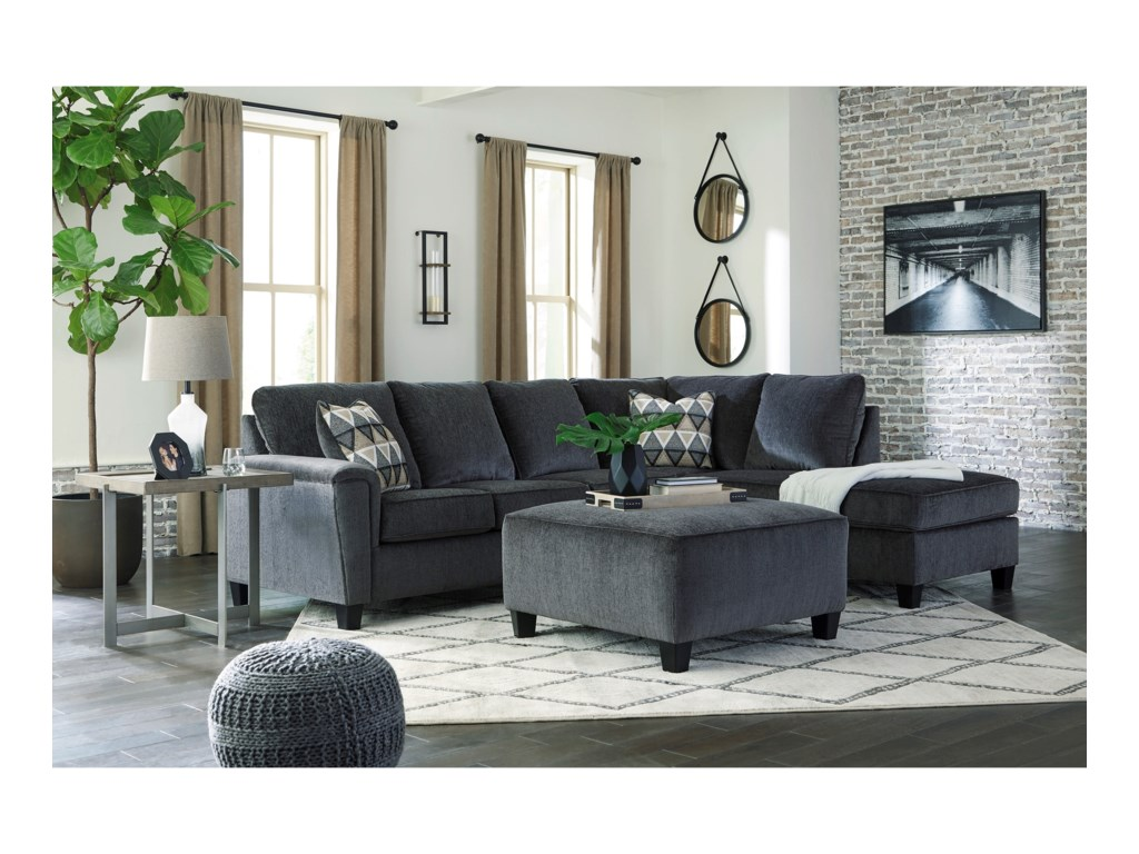 Signature Design by Ashley Abinger2-Piece Sectional w/ Chaise