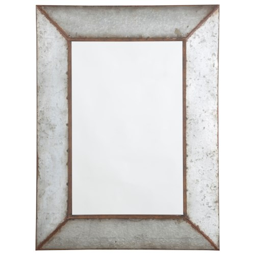 Signature Design by Ashley Accent Mirrors O'Tallay Antique Gray Accent Mirror