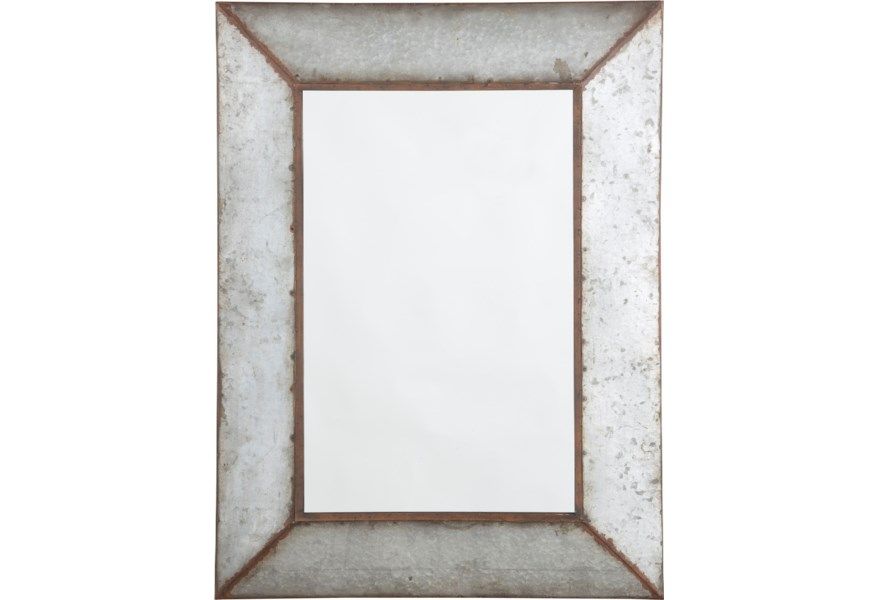 Signature Design By Ashley Accent Mirrors O Tallay Antique Gray Accent Mirror Value City Furniture Wall Mirrors