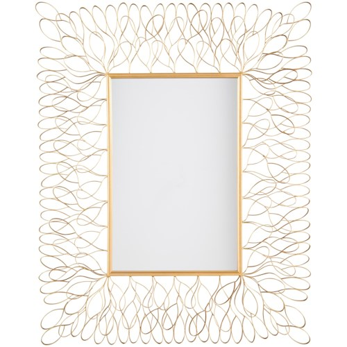 Signature Design by Ashley Accent Mirrors Ogdon Antique Gold Finish Accent Mirror