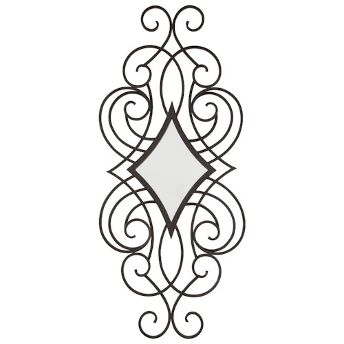 Signature Design by Ashley Furniture Accent Mirrors Oilbhe Black Accent Mirror