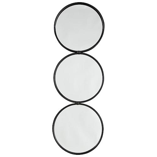 Signature Design by Ashley Accent Mirrors Ohanko Black Accent Mirror