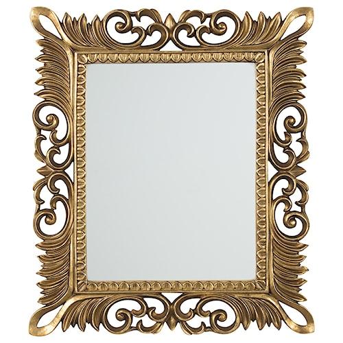 Signature Design by Ashley Accent Mirrors Denisha Antique Gold Finish Accent Mirror