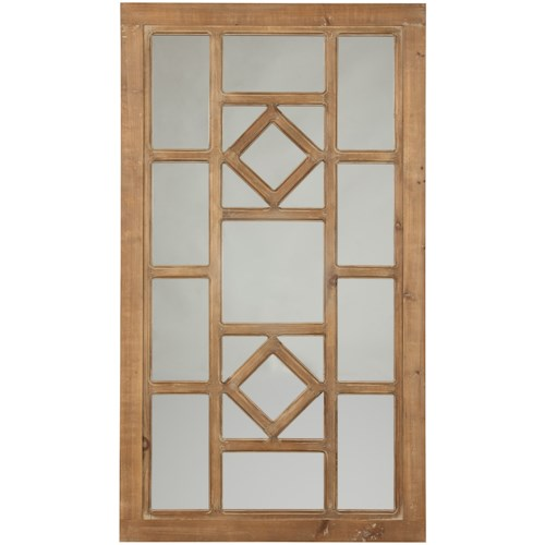 Signature Design by Ashley Accent Mirrors Dreama Natural Accent Mirror