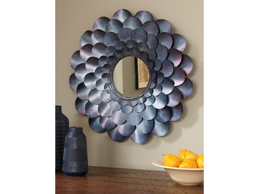 Signature Design by Ashley Accent MirrorsDeunoro Blue Accent Mirror