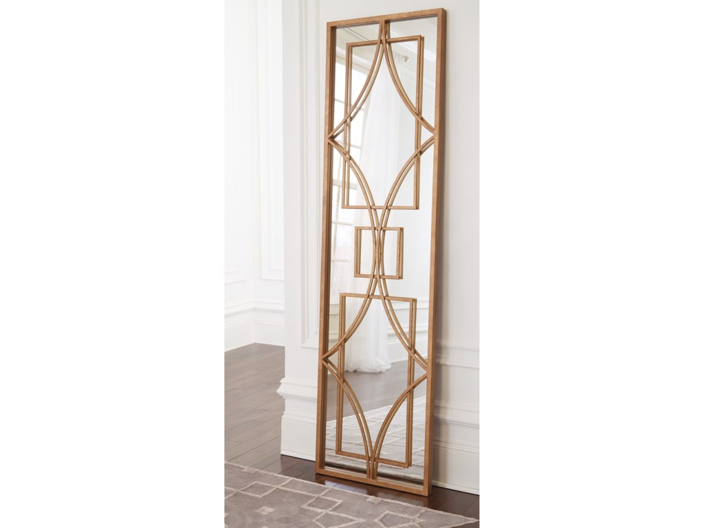 Signature Design by Ashley Accent MirrorsDjimon Antique Gold Finish Accent Mirror