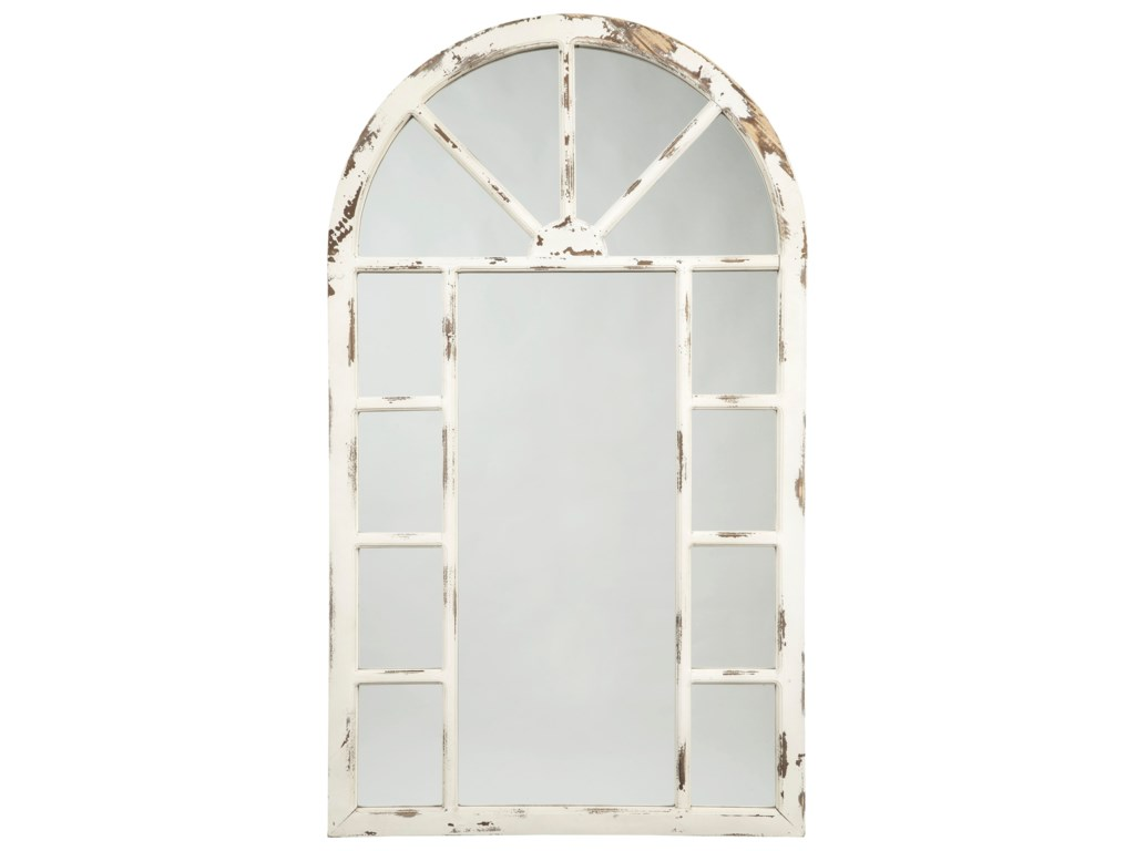 Ashley (Signature Design) Accent MirrorsDivakar Antique White Accent Mirror