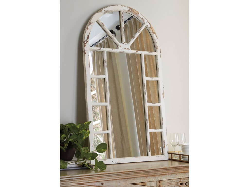 Signature Design by Ashley Accent MirrorsDivakar Antique White Accent Mirror