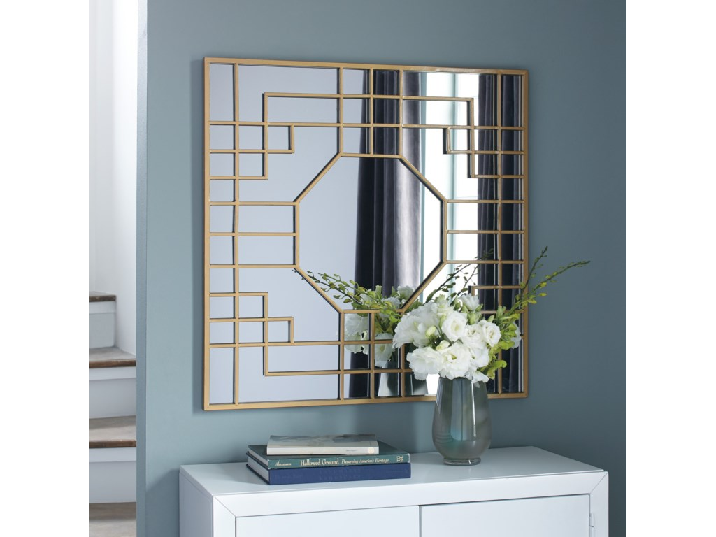 Signature Design by Ashley Accent MirrorsCristobal Gold Finish Accent Mirror