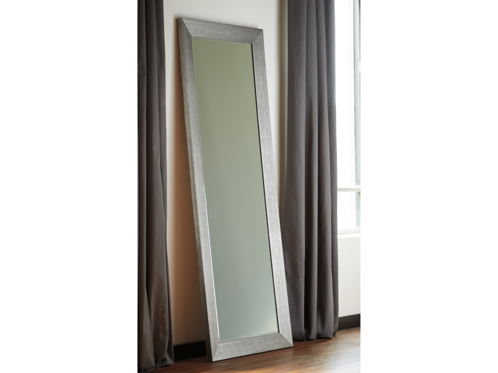 Signature Design by Ashley Accent MirrorsDuka Silver Finish Accent Mirror