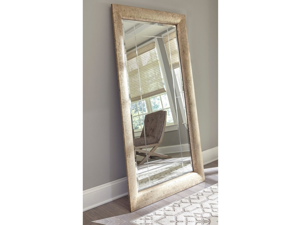 Signature Design by Ashley Accent MirrorsEvynne Antique Gold Finish Accent Mirror