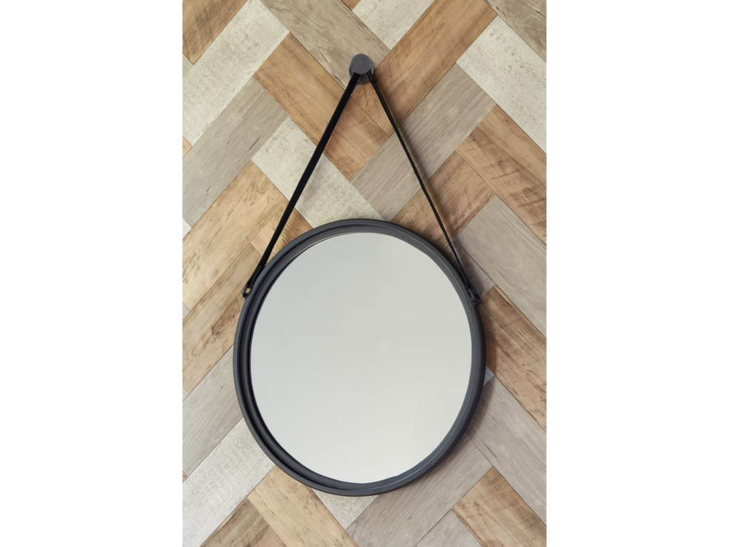 Ashley (Signature Design) Accent MirrorsDusan Black Accent Mirror