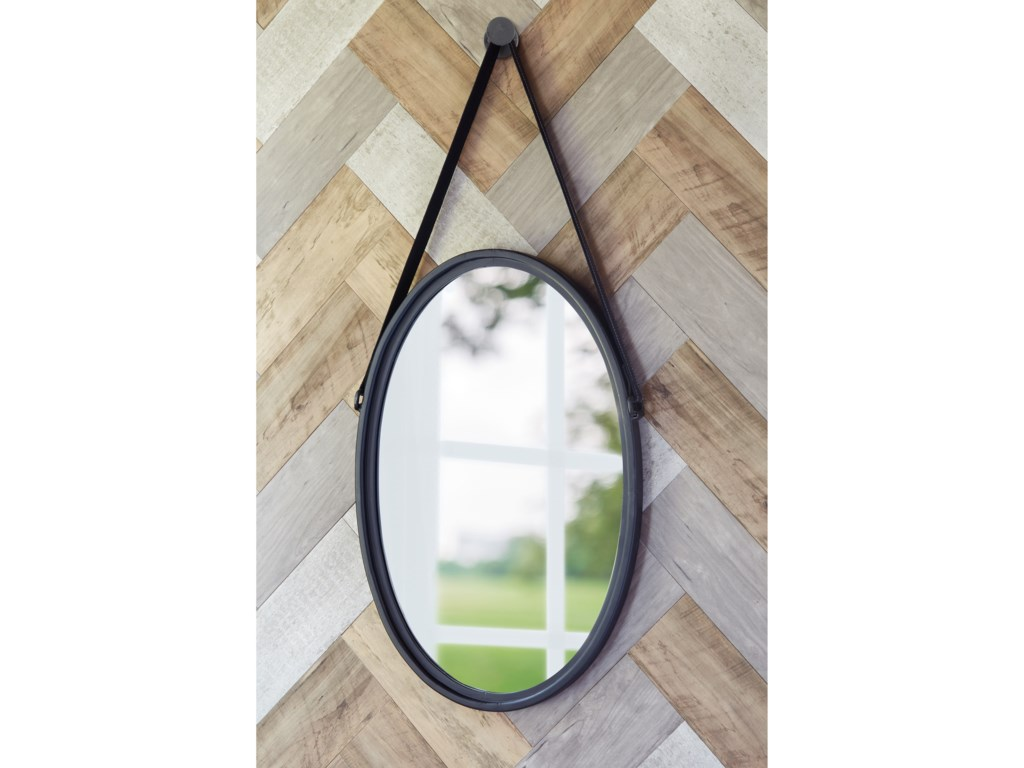 Signature Design by Ashley Accent MirrorsDusan Black Accent Mirror